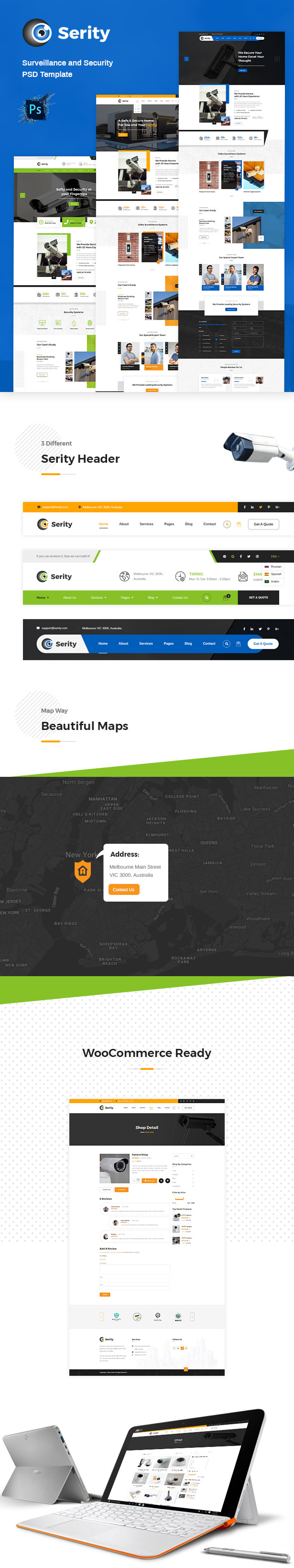 Serity - CCTV and Security Cameras HTML Template - 2
