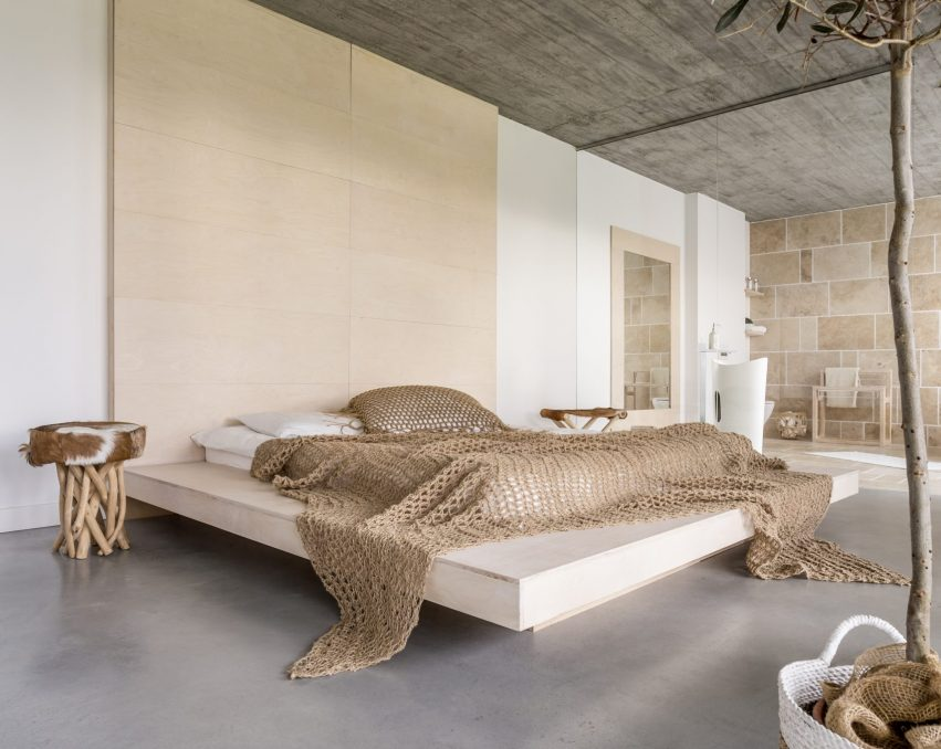 Luxurious bedroom apartment with marital bed